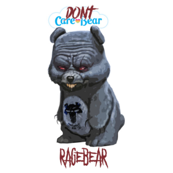 DON'T CARE BEAR - PREMIUM WOMEN'S FITTED S/S T-SHIRT - WHITE Design
