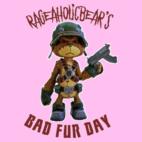 BAD FUR DAY - PREMIUM WOMEN'S FITTED T-SHIRT - LIGHT PINK Design