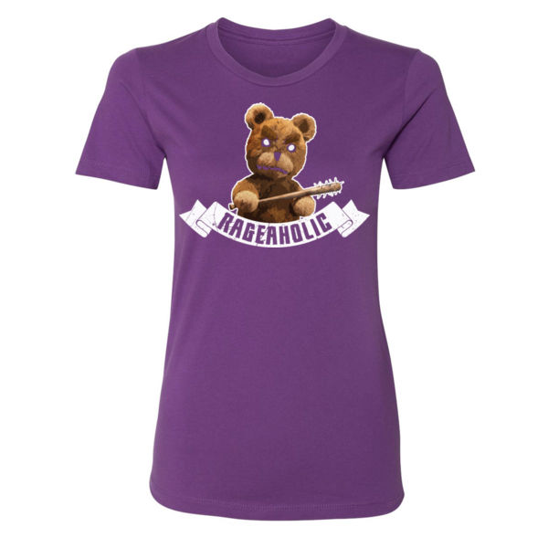 RAGING BEAR - PREMIUM WOMEN'S FITTED S/S T-SHIRT - PURPLE Thumbnail